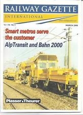 Railway Gazette International magazine- March 2000 DH