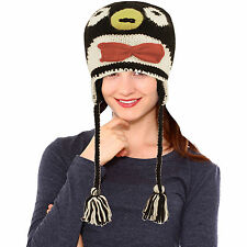 PENGUIN HAT Knit animal ADULT ski cap Costume FLC LINED ice hockey . mens womens