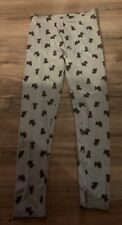 Gymboree Holiday Friends Girls Leggings Pants Size 12 Scottie Dog Gray