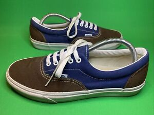 Vans Off The Walk Trainers Sneakers Navy Blue/Brown Size 9 Uk US 10 Vgc