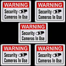 LARGE METAL HOME SECURITY SPY CAMERA SYSTEM IN USE WARNING YARD TREE SIGN LOT