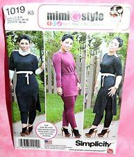 Uncut Simplicity Mimi G Style Sz 8-16 Knit Pants Tunic Cowl & Belt Pattern 1019