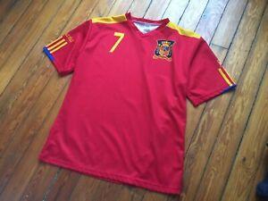 David Villa Spain Espana FC Soccer National Team Jersey XL Football Red