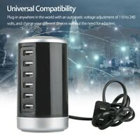 Multi Port USB Charger Fast Charging Station Desktop Travel Hub Power Adapter US