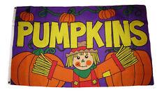 3x5 Advertising Fall Pumpkins Scarecrow Purple Flag 3'x5' Grommets Autumn
