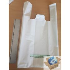 Sac plastique à bretelle 50µ taille 26x45x12 (vendu par 50) Conforme à la loi