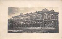 Anthony Kansas~First National Bank on the  Corner~Bewindowed~RPPC 1909 Postcard