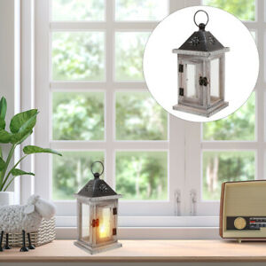 1Pc Durable Nicely Wooden Hanging Candle Lantern Candle Holder for Home