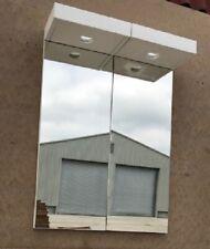 Bath Store MYPLAN 600 ILLUMINATED MIRROR WALL GLOSS WHITE 2x W300 D180 H800mm