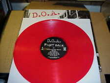LP:  D.O.A. -  Fight Back  NEW SEALED RED VINYL DOA