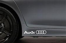 2x Side Skirt Stickers fits Audi Logo Rings Car Decal Sticker JDM Bodywork VK112