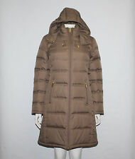 MICHAEL  Michael Kors Truffle Down Removable Hood Belted Jacket Coat size S
