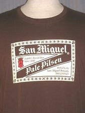 San Miguel Philippine Beer Adult Large Brown T-Shirt ( L Philippino Pinoy )