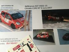 NEW DECAL1 43 CITROEN C2 R2 N°0 S LOEB  Rally WRC JURA 2007