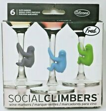 Fred SOCIAL CLIMBERS Wine & Drink Markers, Set of 6 Open BOX