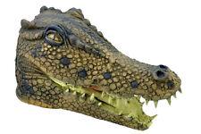 Completo Completa Látex Dinosaurio Cocodrilo Caimán Disfraz Máscara NUEVO
