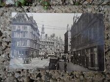 Old Postcard Glasgow - Charing cross - early colour postcard Scotland tram