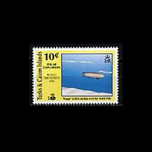 Turks & Caicos, Sc #884, MNH, 1991, Zeppelin, AR5FXX-9
