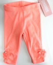 Gymboree Baby Girls Peach Bow at Cuffs Leggings size 3-6 months