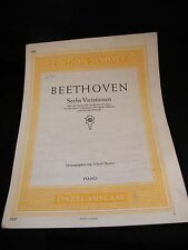 Partition Beethoven Six Variations Music Sheet