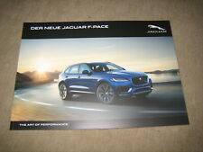 Jaguar F-Pace Prospekt Brochure von 10/2015, 110 Seiten