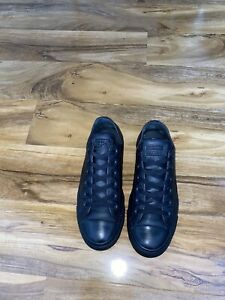 Black leather converse  Men's Trainers size 8uk