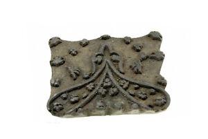 Antique Bunta Stamped Wood Printing Fabric Textile Batik Rajasthan India NP17C4