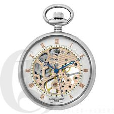 f9696b10af2d New Charles-Hubert Open Face 17 Jewels Mechanical Pocket Watch Chain 3801
