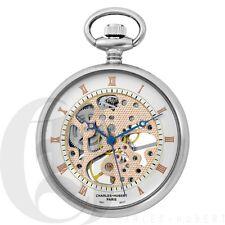 New Charles-Hubert Open Face 17 Jewels Mechanical Pocket Watch Chain 3801
