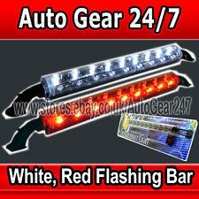 12v Car Van Boat Limousine Home Case Display Flashing White Red Led Light Tube