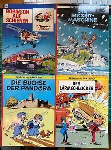 Spirou und Fantasio - 4 Carlsen Comics - Nr. 28, 29, 30, Robinson auf Schienen