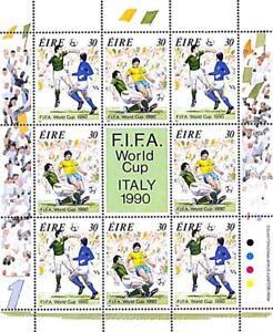 👉 IRELAND 1990 WORLD FOOTBALL CUP M/S  MNH **  SPORTS, SOCCER