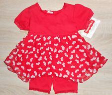 Baby  Mädchen 💕 Sommer Kleid 💕 Set 2tlg 💕 seidiges Kleid mit kurzer Leggings