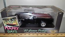 1/18 ERTL AMERICAN MUSCLE HAPPY DAYS TV SHOW 1957 CHEVROLET CAMEO PICKUP BLK rd