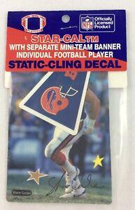 NFL 1989-90 Star-Cal Decal with Buffalo Bills Pennant - Shane Conlan