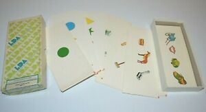 Vintage 1970's LDA Learning Difficulties Development Aid Visual Recall Cards