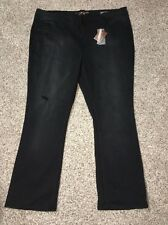 Seven7 Jeans Slim Boot Black Plus Size 28W Inseam 33 Womens Melissa McCarthy NWT