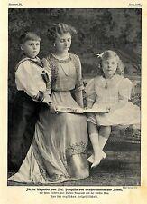 Fürstin Alexander von Teck Prinzessin v.Großbritannien mit ihren Kindern 1912