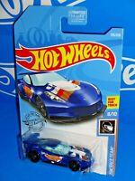 Hot Wheels 2019 HW Race Team Series #193 Corvette C7.R Blue w/ TRAP5s
