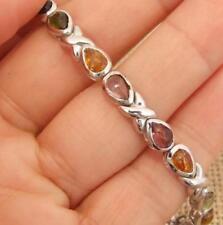 Pulseras de joyería con gemas de plata de ley turmalina