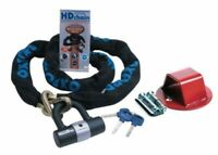 RS GROUND ANCHOR & OXFORD H/D 1.5m CHAIN LOCK MOTORBIKE SECURITY SOLD SECURE NEW