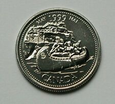 1999 (May) CANADA Coin - 25 Cents - MS++ UNC lustre (from set) - Voyageur Canoe