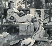 Late Golden Age American Illustration W L Van Gundy. Ladies With Mandolin C1936