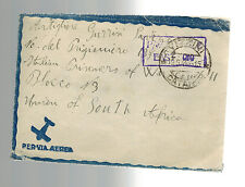 1944 Italy Censored Cover to South AFrica Prisoner of War POW Camp 11