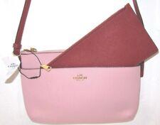 Coach F28382 Colorblock EW Pop Up Cross-body Bag Blush Pink Terracotta NWT $225