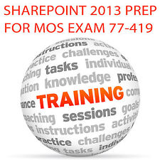 SHAREPOINT 2013 for MOS Certification Exam 77-419 - Video Training Tutorial DVD
