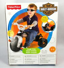 Fisher Price Harley-Davidson Tough Trike Ride On Pedal Motorcycle Bike Tricycle