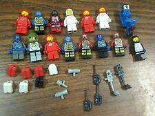 LEGO Space man Minifigures Astronaut Red Black White Blue robot 80s 90s lot rare
