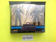 """Everett Ross & Erik Killmonger Marvel Legends 2 pack Black Panther 6"""" inch NEW"""