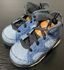 Nike Air Jordan 6 Retro CV5488-401 Washed Denim toddler basketball sneakers 6C